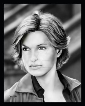Mariska Hargitay - portrait by AlienFodder