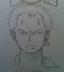 Old drawing of Zoro! by Artimanhas