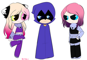Teen Titans Girls by Hiriiko