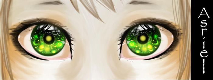 Asriel Eyes by LordEyeballz