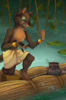 Fishing Time In Ancient Egypt by Minerea