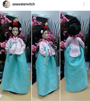 Hanbok royal for Barbie by seawaterwitch