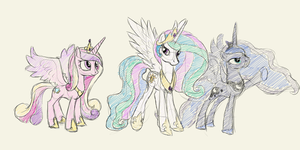 My Little Sketches: Princesses are Magic by Rudahn