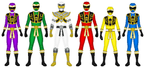 Power Rangers: Shaolin Guard by partiallyBatty
