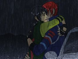 Frerard: Downpour --For Death-Stalker-- by Hootsweets