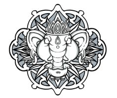 Ganesha by BrainBlueArts
