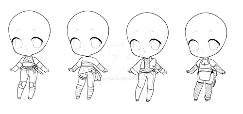 .:: NARUTO ADOPTABLES: SET #2 - OPEN ::. by MRH-Adopts