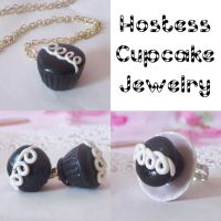 Hostess Cupcake Jewelry by lessthan3chrissy