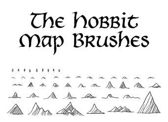 Hobbit Map Brushes by Orboroth