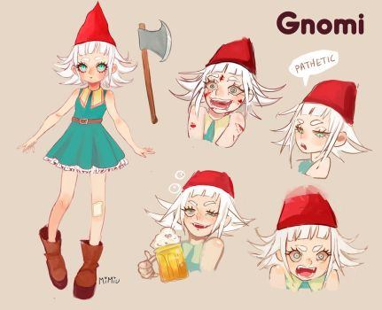 [ OC ] Gnomi / reference sheet by MiiMiiu