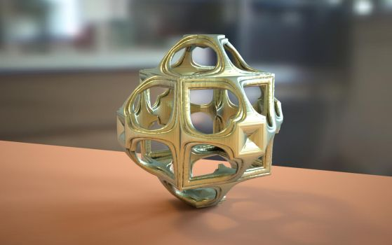 Mandelbulb 3D Model on Shapeways by nic022