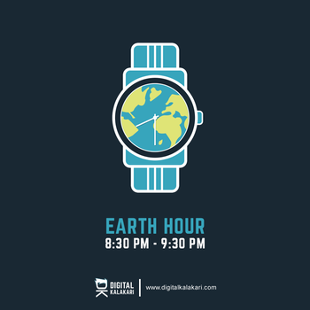 Earth Hour | Poster Design by digitalkalakari