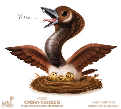 Daily Paint 2030# Cobra Chicken by Cryptid-Creations