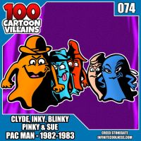 100 Cartoon Villains-074-The Ghosts of Pac Man! by CreedStonegate