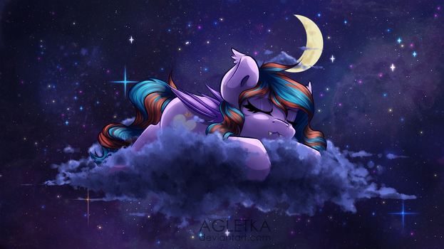 YCH: On the cloud [night ver.] by Agletka
