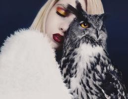 girl and her owl by Rinksy