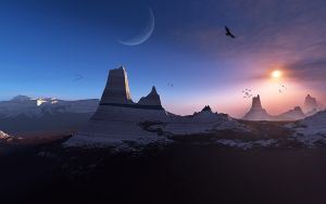 Sunset on Arcturus V by LightDrop