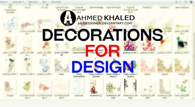 Decorations and patterns for design by AK-DESIGNER