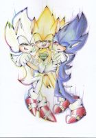 hyper sonic, super sonic and dark sonic by IBA2004