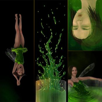 Absinthe green fairy 2 by Gogolle
