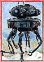 Imp. Probe Droid Sketchcard by RobD4E