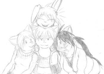 Main Character Group Pic by LegendaryWatermelon