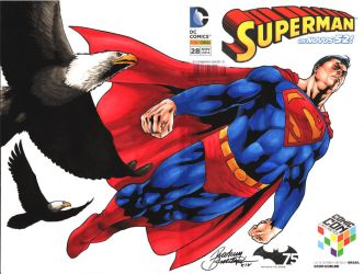 Superman Cover Commission by Buchemi