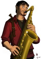 Sax guy - Coloured by MickusTheDutch