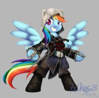 MLP + AC Rainbow Dash as Edward Kenway by KvOrias23