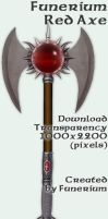 Funerium Weapon: Red Axe by FantasyStock