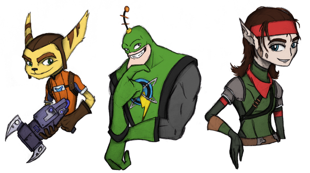 Rachet and Clank Characters by squishypon