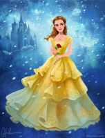 Emma Watson as Belle - Beauty and the Beast 2017 by DylanBonner