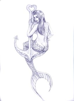 Mermaid on Anchor by arm01