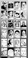 Star Wars Galaxy 7 Sketch Cards by glovestudios