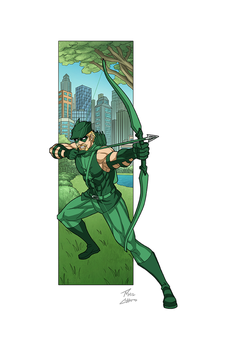 Green Arrow commission by phil-cho