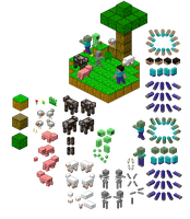 Minecraft pixeled by Flying-pen