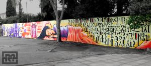 Graffiti - 1st high school of Chios - Right view by CanteRvaniA