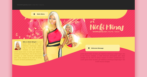 Nicki Minaj PSD Header {RENEWED} by BrielleFantasy
