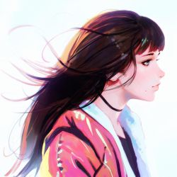 Illustration Magazine Calendar Cover by Kuvshinov-Ilya