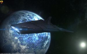 Asari Destroyer by Euderion