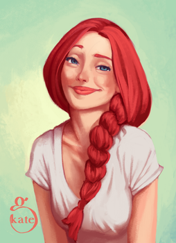 Red braid by Bramboochika