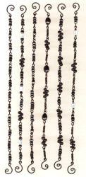 Black Bead Chain Bracelets by ThomEyeDesign