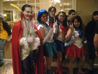 Kefka and some Sailor Scouts by timfortune9