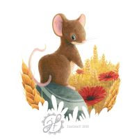 Mouse in a field by JustineF-Illustrator