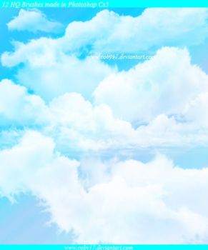 Clouds in the Sky HQ Brushes by Coby17