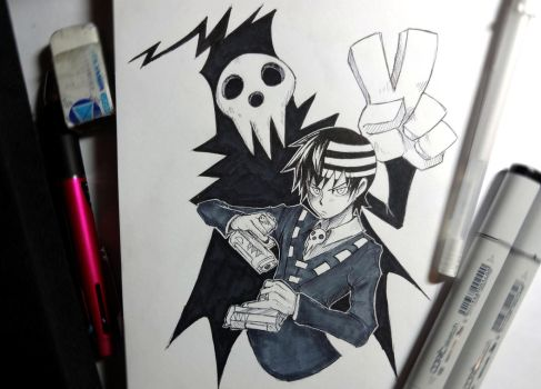 4. Death the Kid and Lord Death by PokuriMio