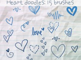 Heart Doodles Brushes by ibeliever
