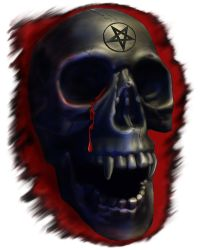 Demon Skull by sicklilmonky