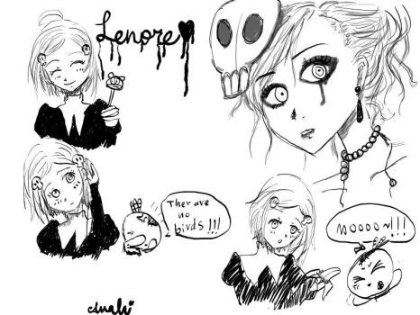 Lenore doodles by Anahico