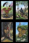 Gryphon Tarot: Threes Suite by silvermoonnw